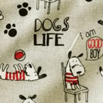 Dogs life na bež podlagi